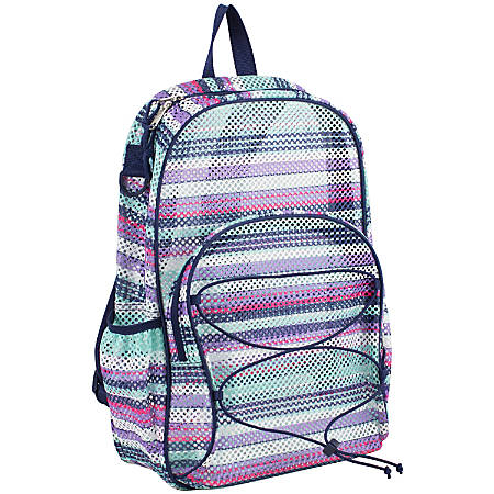 Eastsport Sport Mesh Backpack, With Bungee, Candy Stripes