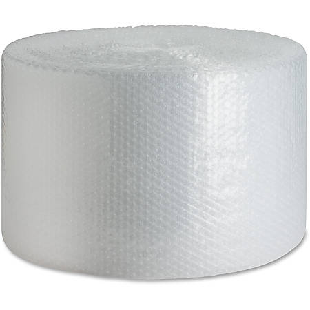 "Sparco Bulk Roll Bubble Cushioning - 12"" Width x 250 ft Length - 0.2"" Bubble Size - Flexible, Lightweight - Polyethylene - Clear"