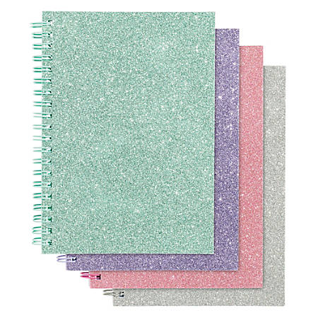 office depot glitter notebook 5 x 7 wide ruled 160 pages 80 sheets
