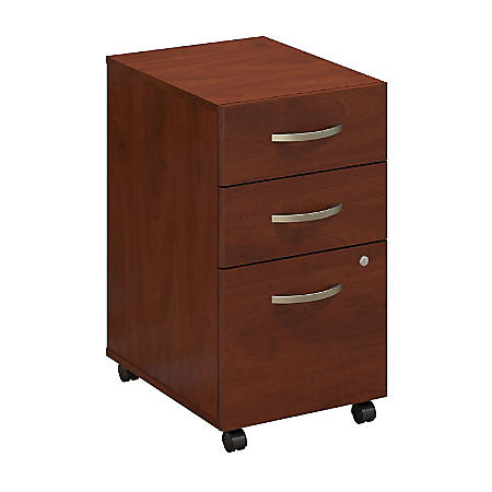 Bush Business Furniture Components Elite 3 Drawer Mobile File Cabinet, Hansen Cherry, Standard Delivery