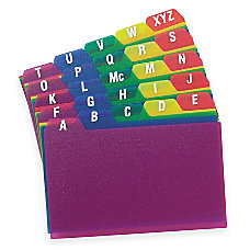 Oxford Poly Card Guides A Z