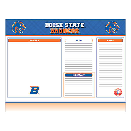 "Markings by C.R. Gibson® Desk Notepad, 17"" x 22"", Boise State Broncos"