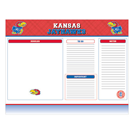 "Markings by C.R. Gibson® Desk Notepad, 17"" x 22"", Kansas Jayhawks"
