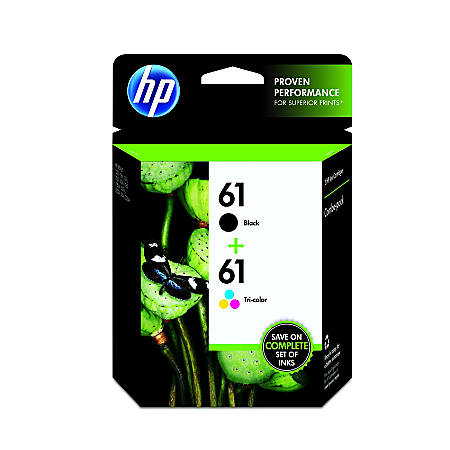 HP 61 Black/Tricolor Original Ink Cartridges (CR259FN), Pack Of 2