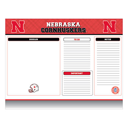"Markings by C.R. Gibson® Desk Notepad, 17"" x 22"", Nebraska Cornhuskers"