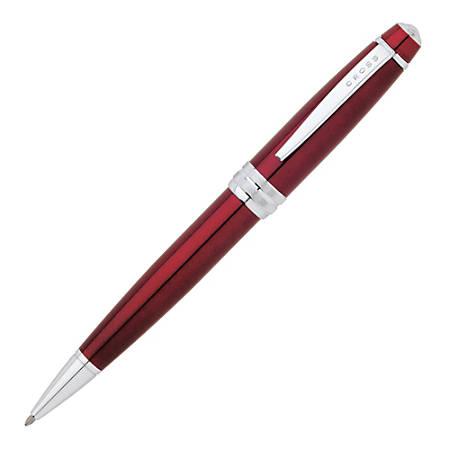 Cross® Bailey Ballpoint Pen, Medium Point, 1.0 mm, Red Barrel, Black Ink