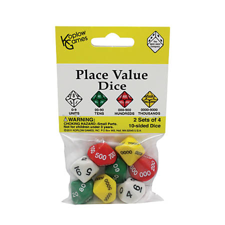 Koplow Games Place Value Dice, Ages 8-11, Set Of 2