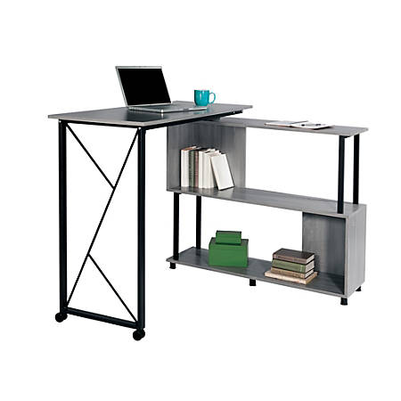 Safco® Mood™ Standing-Height Desk With Rotating Work Surface, Gray
