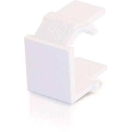 C2G Snap-In Blank Keystone Insert Module - White