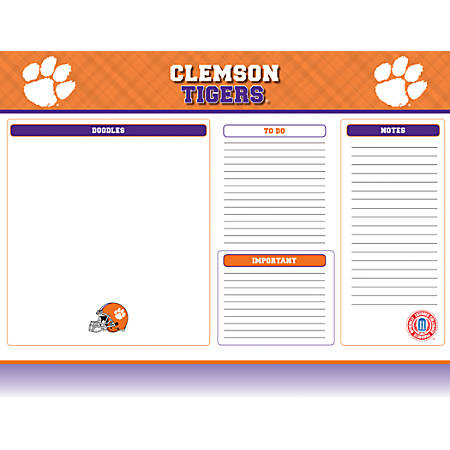 "Markings by C.R. Gibson® Desk Notepad, 17"" x 22"", Clemson Tigers"