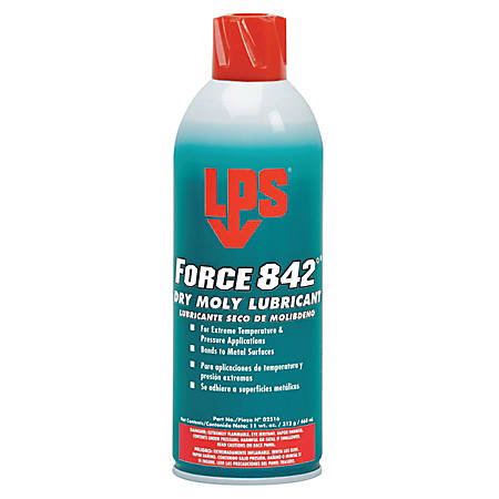 LPS® Force 842°® Dry Moly Lubricant, 16 Oz, Case Of 12 Cans