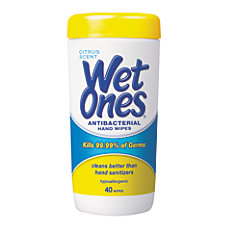 Wet Ones Antibacterial Moist Towelettes Unscented