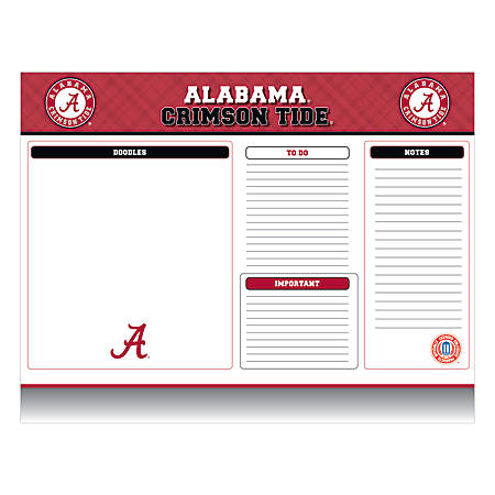 "Markings by C.R. Gibson® Desk Notepad, 17"" x 22"", Alabama Crimson Tide"
