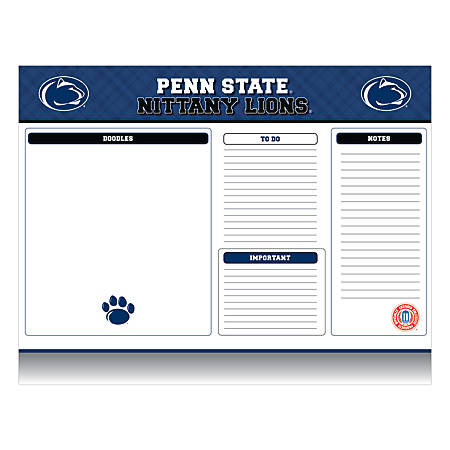 """Markings by C.R. Gibson® Desk Notepad, 17"""" x 22"""", Penn State Nittany Lions"""