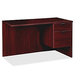 Lorell Prominence Mahogany Laminate Office Suite