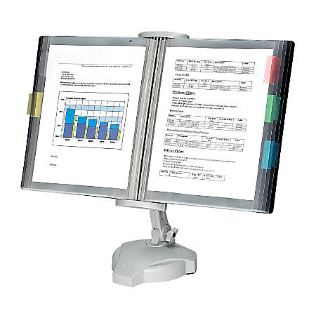 Fellowes® Desktop Reference Rack, Platinum