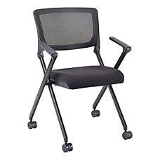 Lorell Mesh Back Nesting Chairs With