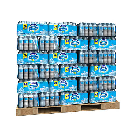 Nestlé® Pure Life Purified Bottled Water, 16.9 Oz, 28 Bottles Per Case, Pallet Of 60 Cases