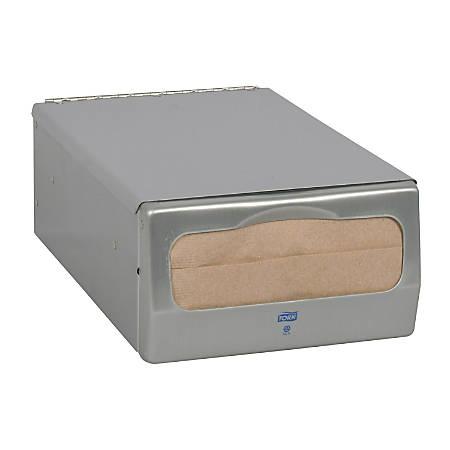 Tork® Minifold™ Napkin Dispenser, Brushed Steel