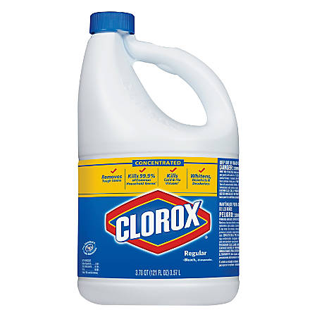 Clorox Regular Liquid Concentrated Bleach, 121 Oz