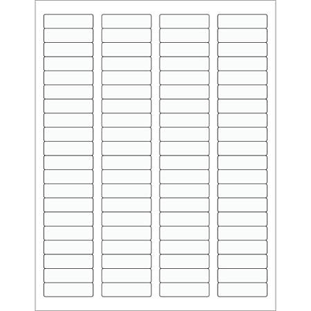 "Office Depot® Brand Rectangle Laser Labels, LL220CL, 1 3/4"" x 1/2"", Clear, Pack Of 8,000"
