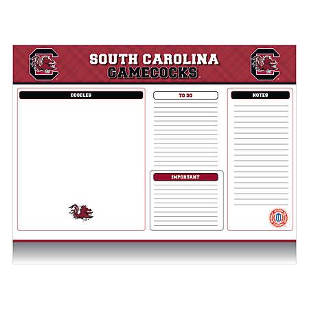 "Markings by C.R. Gibson® Desk Notepad, 17"" x 22"", South Carolina Gamecocks"