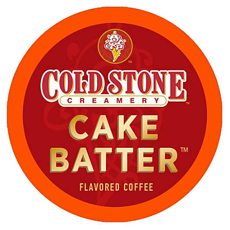 Cold Stone Creamery Enticing Cake Batter Flavor Coffee Single-Serve K-Cups®, 0.35 Oz, Carton Of 24