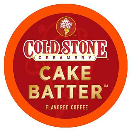 Cold Stone Creamery Enticing Cake Batter Flavor Coffee Single-Serve K-Cups®, 0.35 Oz, Carton Of 24