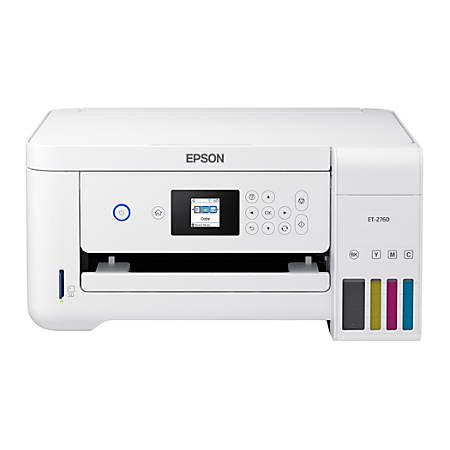 Epson® Expression ET-2760 EcoTank® Wireless Color Inkjet All-In-One Printer, Copier, Scanner, C11CG22203