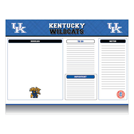 "Markings by C.R. Gibson® Desk Notepad, 17"" x 22"", Kentucky Wildcats"
