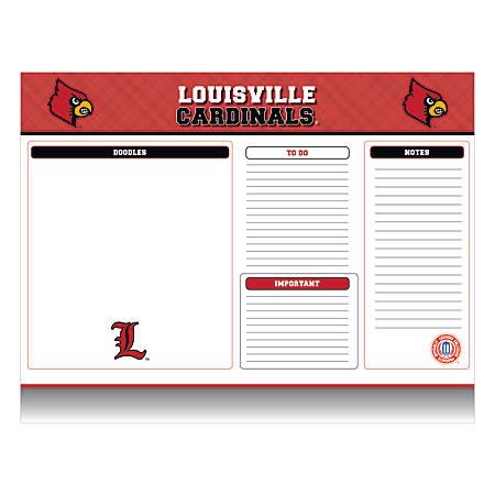 "Markings by C.R. Gibson® Desk Notepad, 17"" x 22"", Louisville Cardinals"