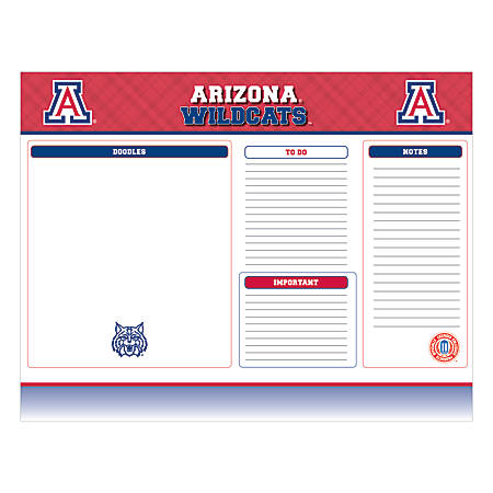 "Markings by C.R. Gibson® Desk Notepad, 17"" x 22"", Arizona Wildcats"