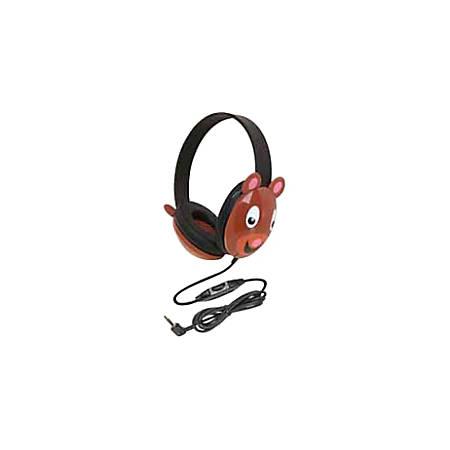 Califone Listening First Kids Stereo Headphones with Bear Design