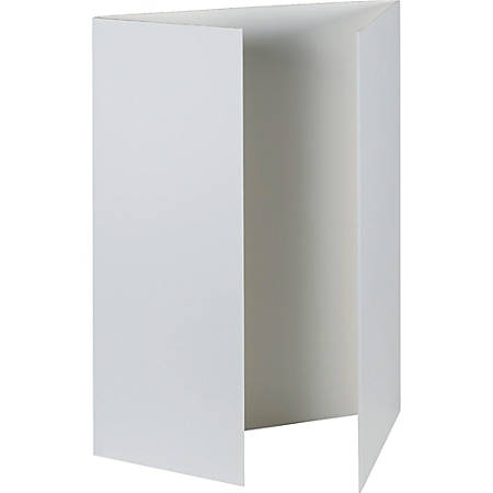 "Pacon® Tri-Fold Foam Presentation Board, 48"" x 36"", White, Carton Of 6"