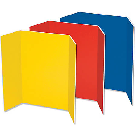 "Pacon® Tri-Fold Foam Presentation Board, 48"" x 36"", Assorted, Carton Of 6"