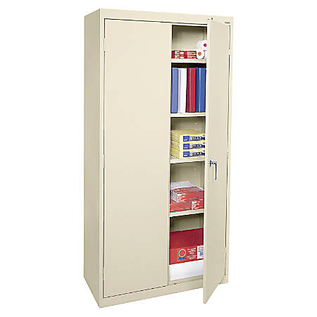 Alera® Economy Steel Storage Cabinet, 1 Fixed Shelf, 3 Adjustable Shelves, Putty