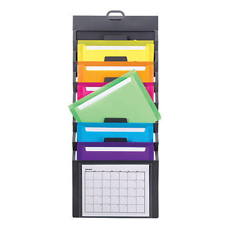 Smead® Cascading Wall Organizer, Letter Size, Multicolor