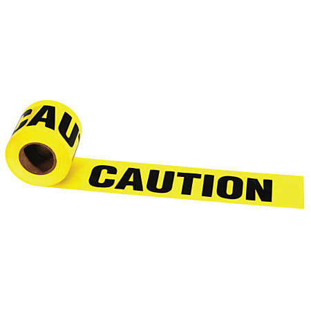 Barrier Tape, 3 in x 1,000 ft, Caution