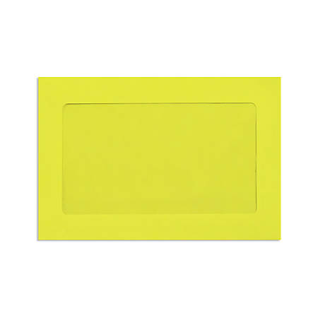 """LUX Full-Face Window Envelopes With Peel & Press Closure, #6 1/2, 6"""" x 9"""", Citrus, Pack Of 50"""
