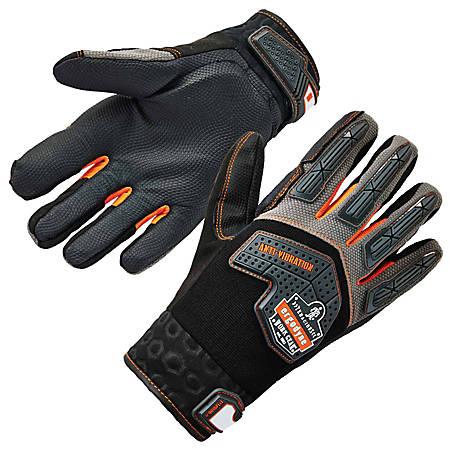 Ergodyne ProFlex 9015F(x) Certified Anti-Vibration Gloves With DIR Protection, Extra Large, Black