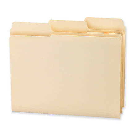 Smead® 1/3-Cut 2-Ply SuperTab® File Folders, Letter Size, Manila, Box Of 100