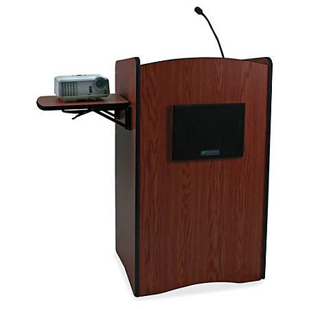 AmpliVox Multimedia Smart Computer Wireless Lectern, Mahogany