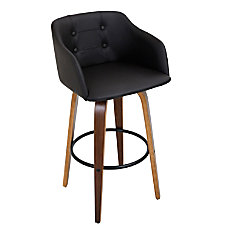 Lumisource Bruno Bar Stool BlackWalnut