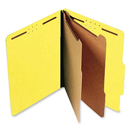 SJ Paper Standard Classification Folders, Letter Size, 60% Recycled, Yellow, Box Of 15