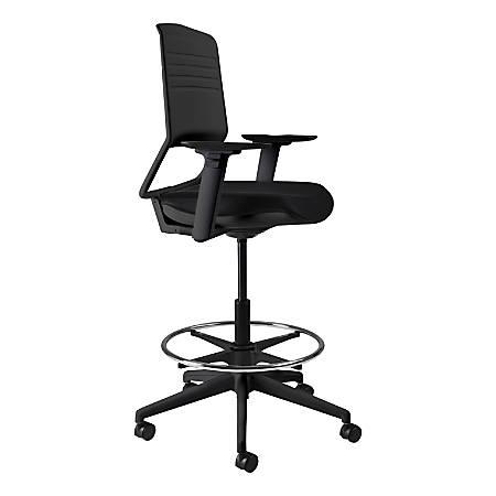 Koplus Switch Fabric Drafting Chair, Midnight Black