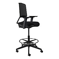 Koplus Switch Fabric Drafting Chair Midnight