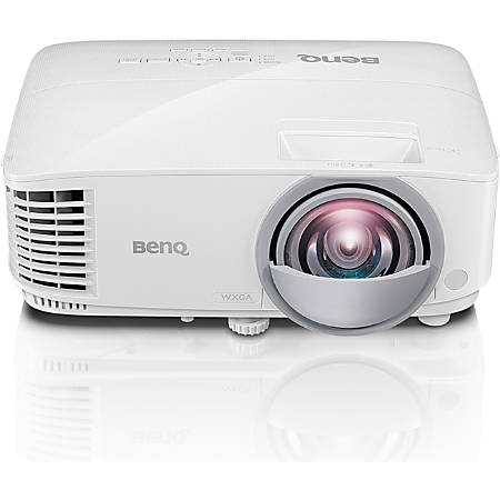 BenQ MW826ST 3D Ready Short Throw DLP Projector - 16:10 - 1280 x 800 - Front - 720p - 5000 Hour Normal Mode - 10000 Hour Economy Mode - WXGA - 20,000:1 - 3400 lm - HDMI - USB