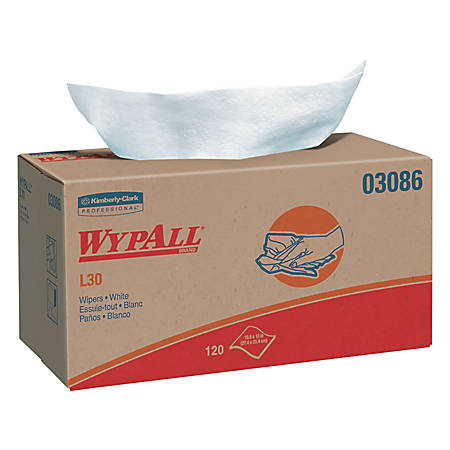WypAll L30 Wipers, Pop-Up Box, White