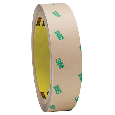 "3M™ F9465PC Adhesive Transfer Tape Hand Rolls, 3"" Core, 1"" x 60 Yd., Clear, Case Of 2"