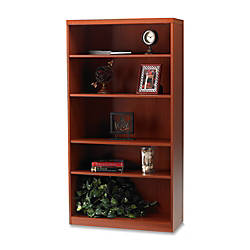 Mayline Aberdeen 5 Shelf Bookcase Cherry